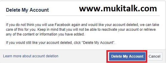 Fb id delete
