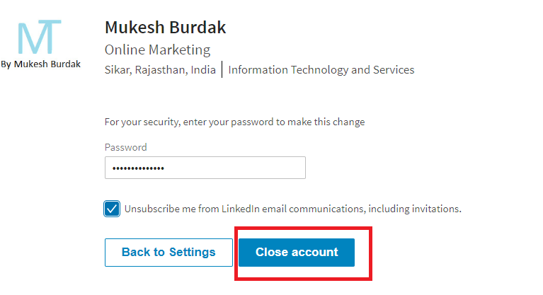 Linkedin Account Ko Delete Kare