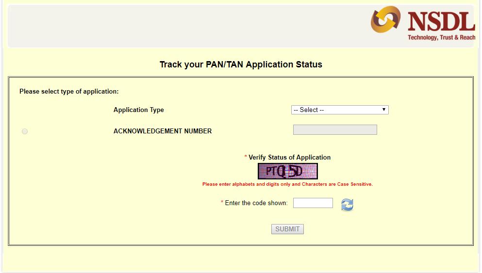 Pan Card Status in hindi