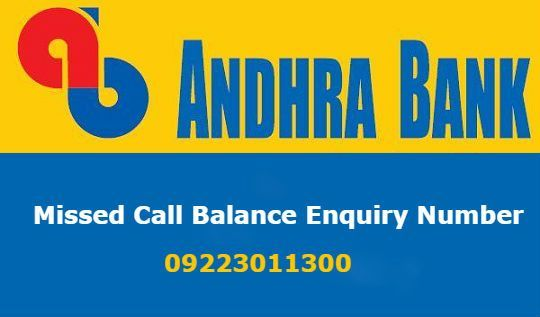 Andhra Bank mini statement