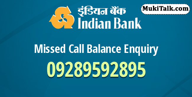 Indian Bank Balance Toll Free Missed Call Number