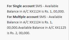 IDFC first bank balance by sms