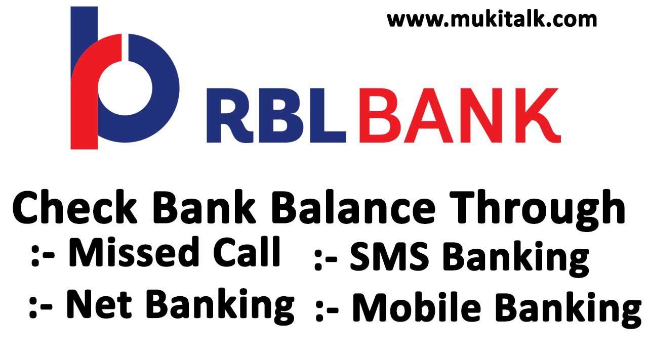 RBL Bank Balance Check
