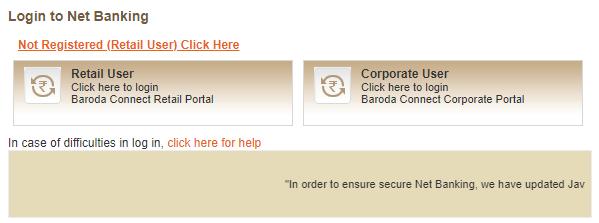 bank of baroda personal internet banking