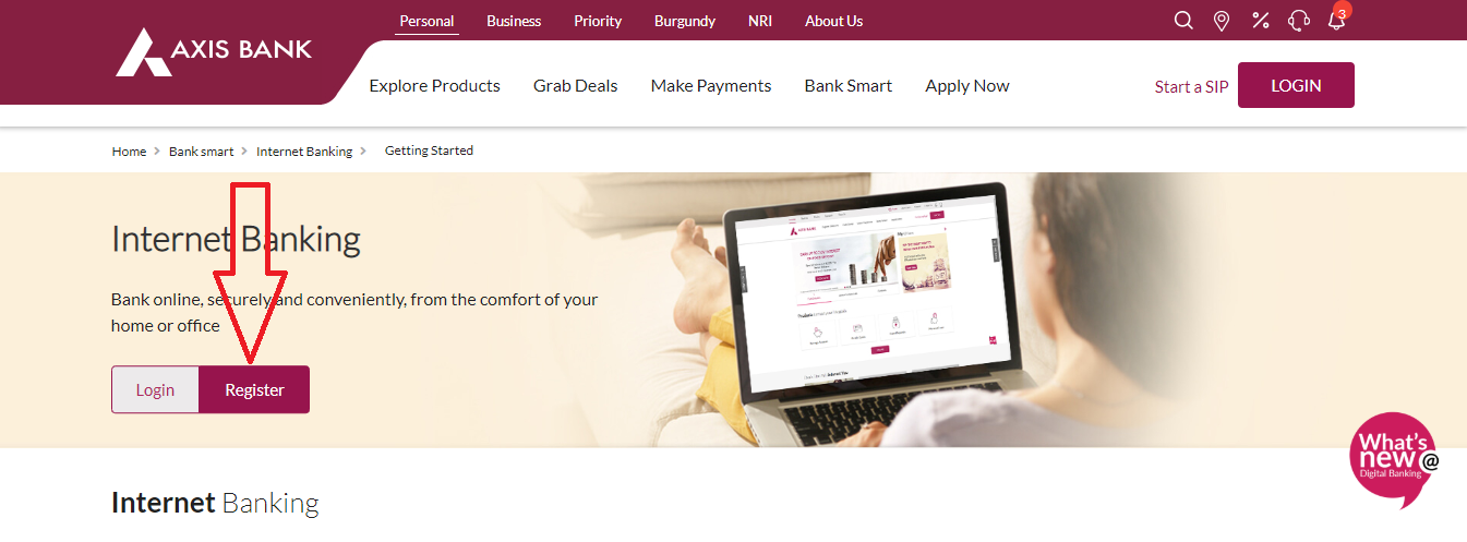 Axis Bank Net Banking Register