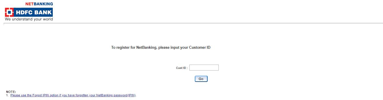 HDFC Bank Customer ID