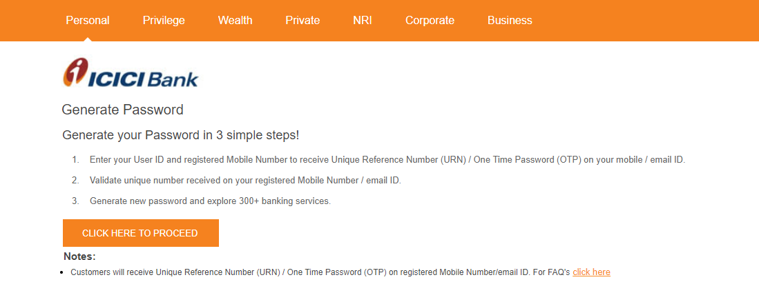 ICICI Bank Net Banking Registration